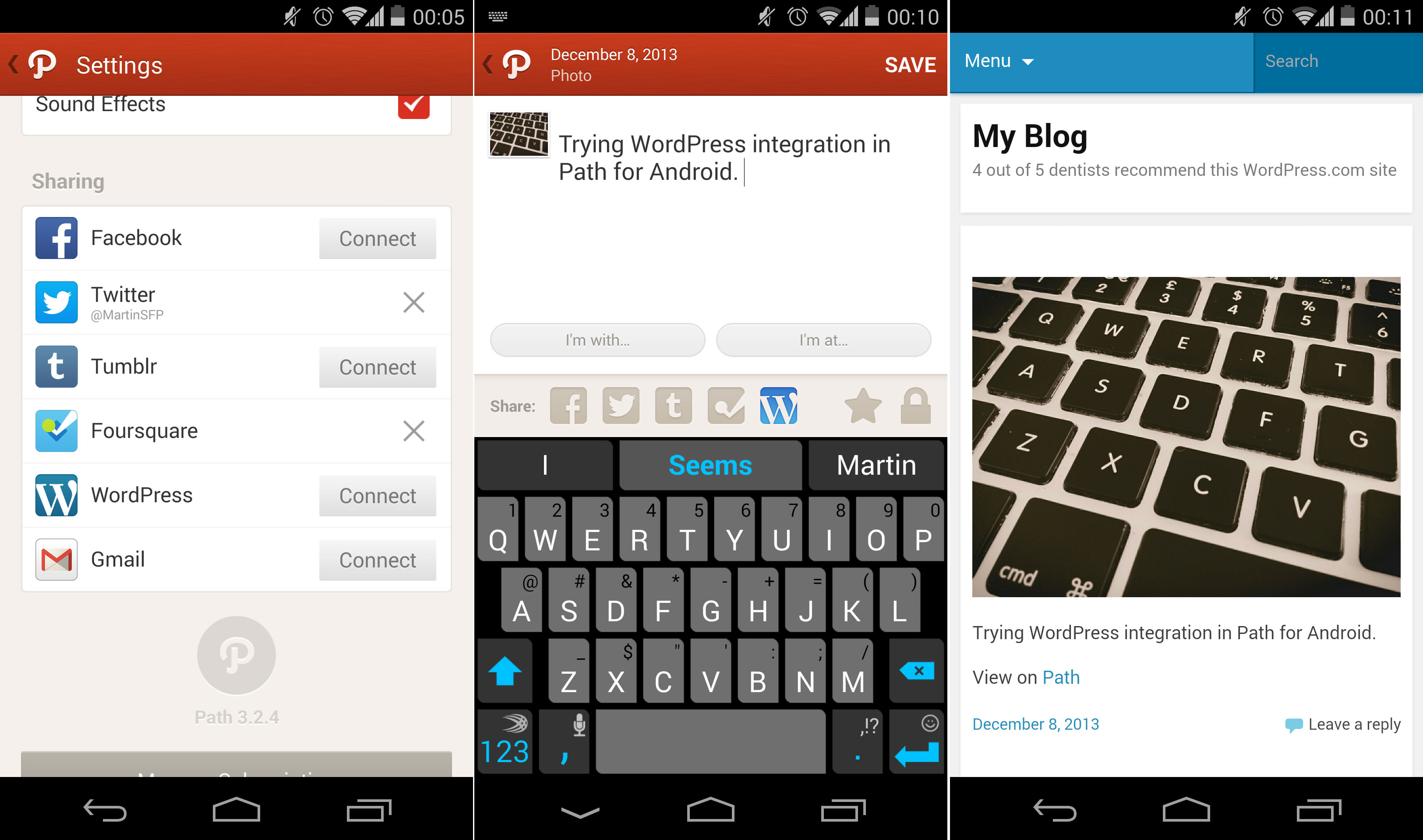 Path Adds Feature For Moments To Be Shared Directly To