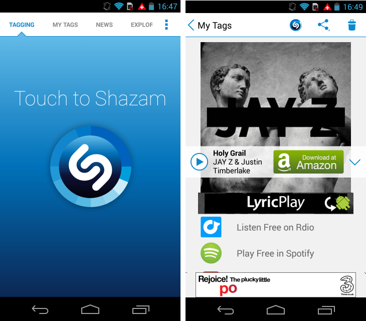 Shazam1 So you've just got an Android device? Download these apps first