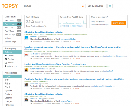 Twitter Search, Monitoring,   Analytics   Topsy.com