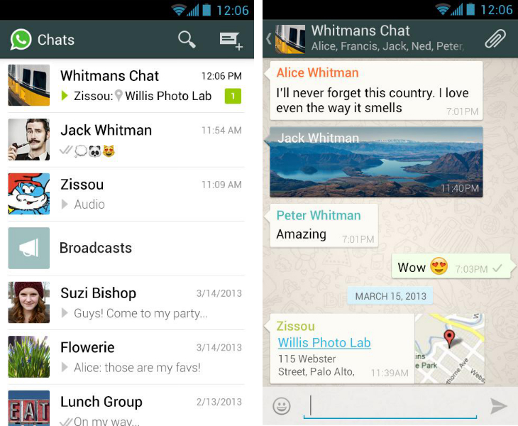 Whatsapp So you've just got an Android device? Download these apps first