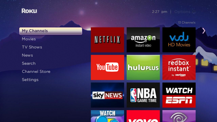 YouTube channel debuts on the Roku 3 in the US, Canada, UK and Republic of Ireland