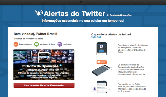 alertas do twitter