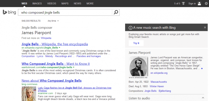 bing jingle bells1 730x352 Microsofts 2013 in review: A year of convergence and integration