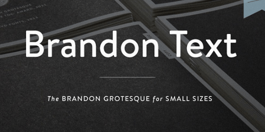 brandon text The best typefaces of 2013