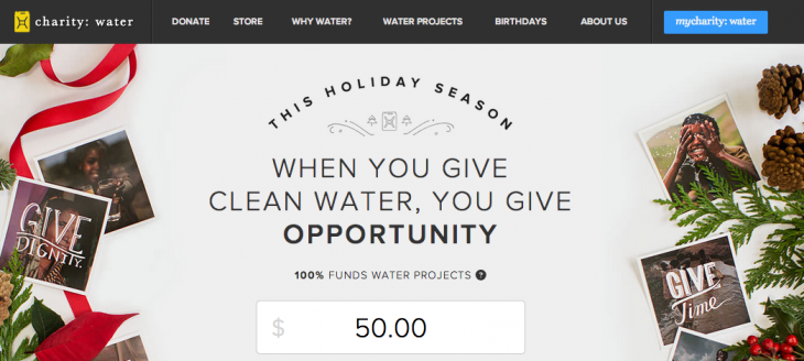 charitywater 730x328 8 startups that leveraged products for social good, and where theyre headed in 2014