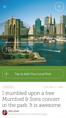 circle ny 220x390 Circle, the network for what's happening nearby, now lets you personalize categories and share photos