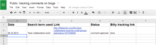 comment tracking
