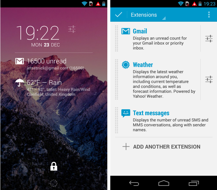 dashclock1 So you've just got an Android device? Download these apps first