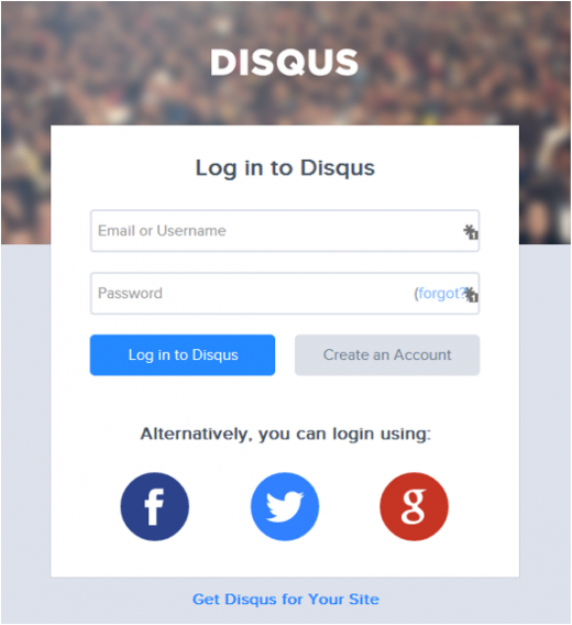disqus log in