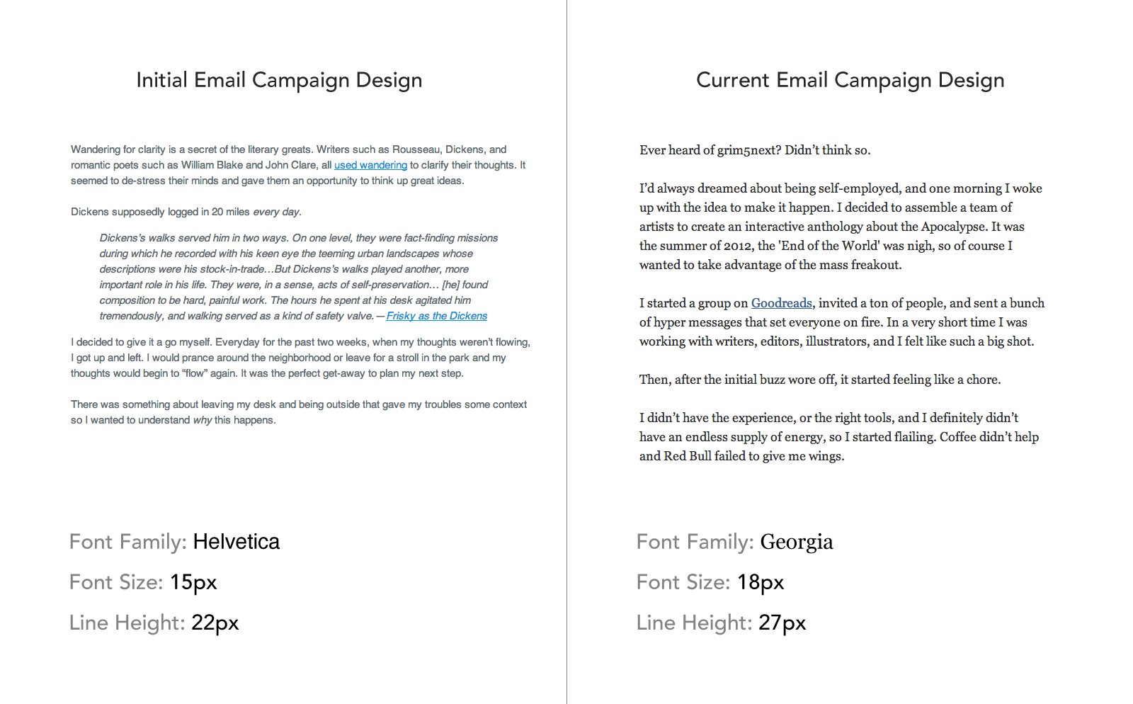 the science behind fonts and how they make you feel email campaign comparison
