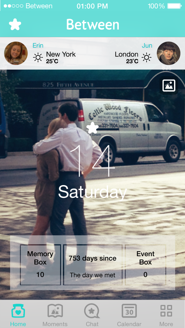 en1 iP5 Between, the social network for couples, gets a major update as it passes 5m downloads