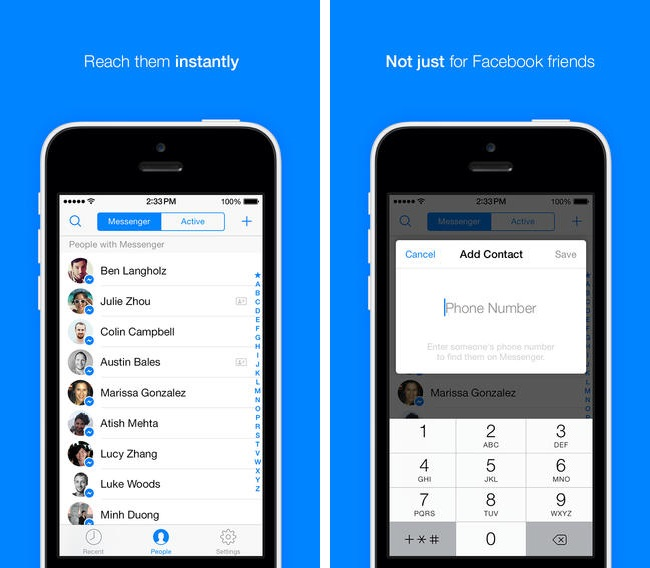 App chat facebook android