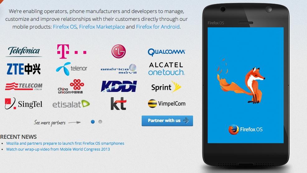 firefox os partners screenshot
