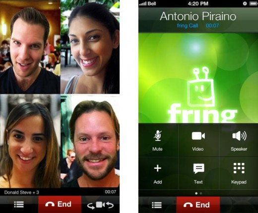 fring1 horz 520x428 10 video calling apps to connect you with family and friends this Christmas