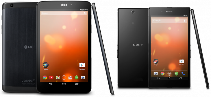 Google Play Editions of the Sony Z Ultra and LG G Pad 8.3 now available in the US for $649 and $349 respectively ...