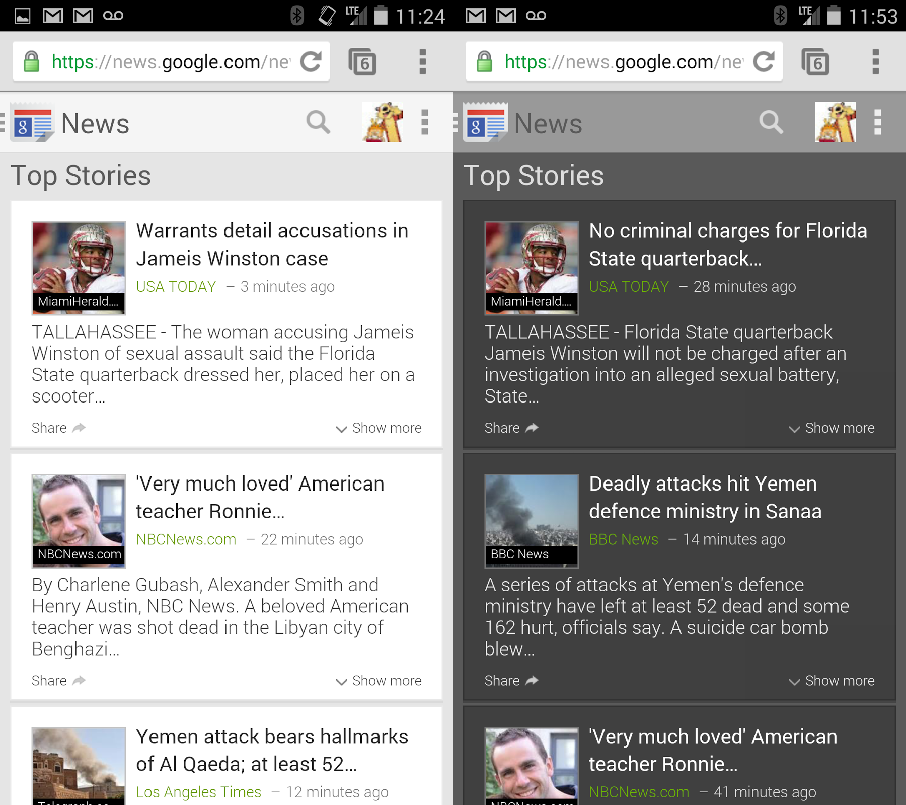 What's New in The Mobile Google + Web Version