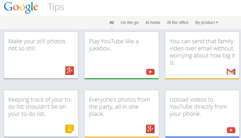 Google Tips New Site to Help you Use Google Products