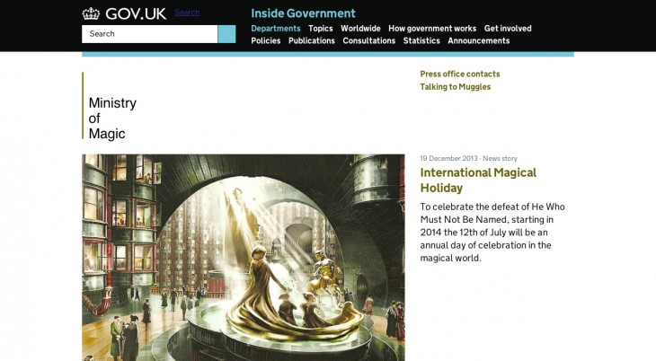 harry 730x402 Harry Potter fan creates a believable site for the Ministry of Magic in the style of GOV.UK