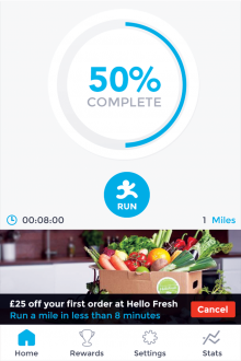 home 220x330 Runnit: This iPhone app rewards you for running