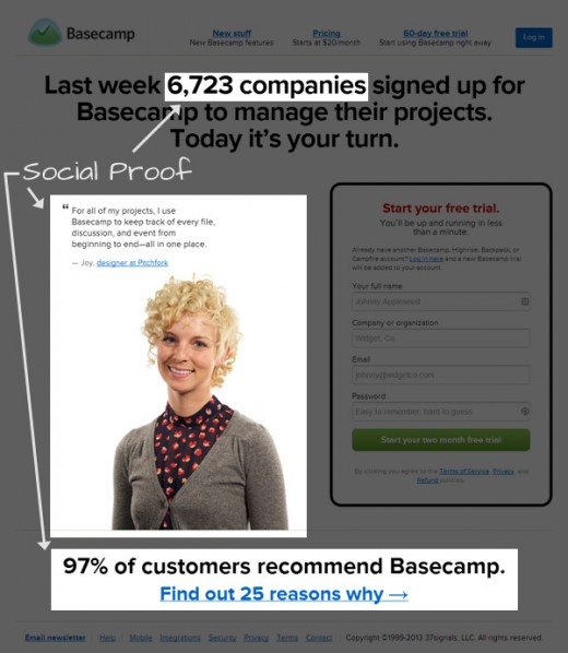 improve usability conversion rates 03socialproof 520x598 5 ways to improve your websites conversion rate
