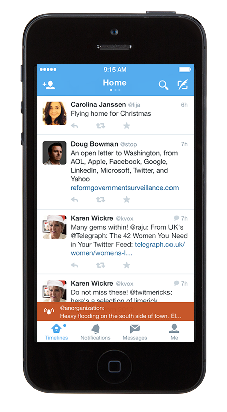 Twitter Brings Emergency Alert Sign-ups In-App And Expands