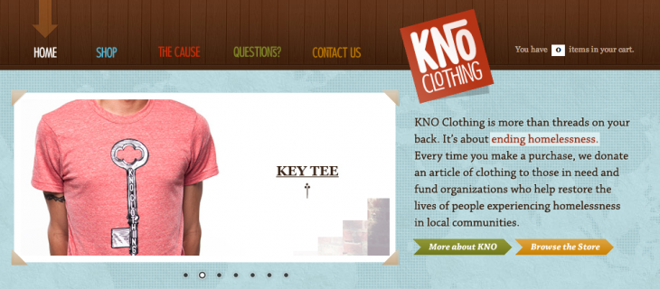 knoclothing 730x320 8 startups that leveraged products for social good, and where theyre headed in 2014