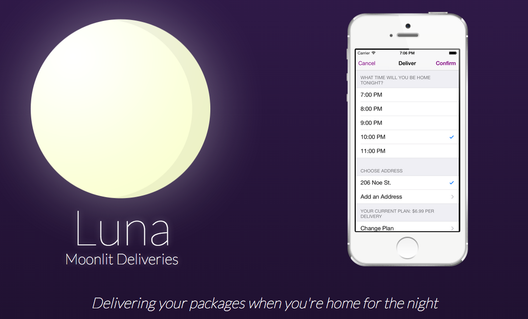 Luna Delivery Service Ships Your Packages When You're Actually Home
