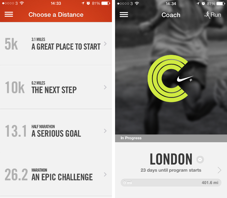 nike Nike+ Running for iPhone now gives you personalized training programs, tips and reminders