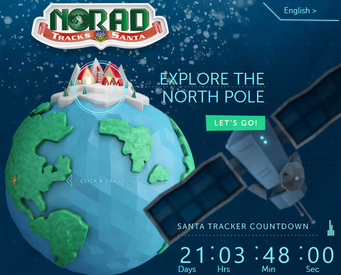 norad tracks santa countdown Microsoft and NORAD once again go head to head with Google to track Santa this Christmas