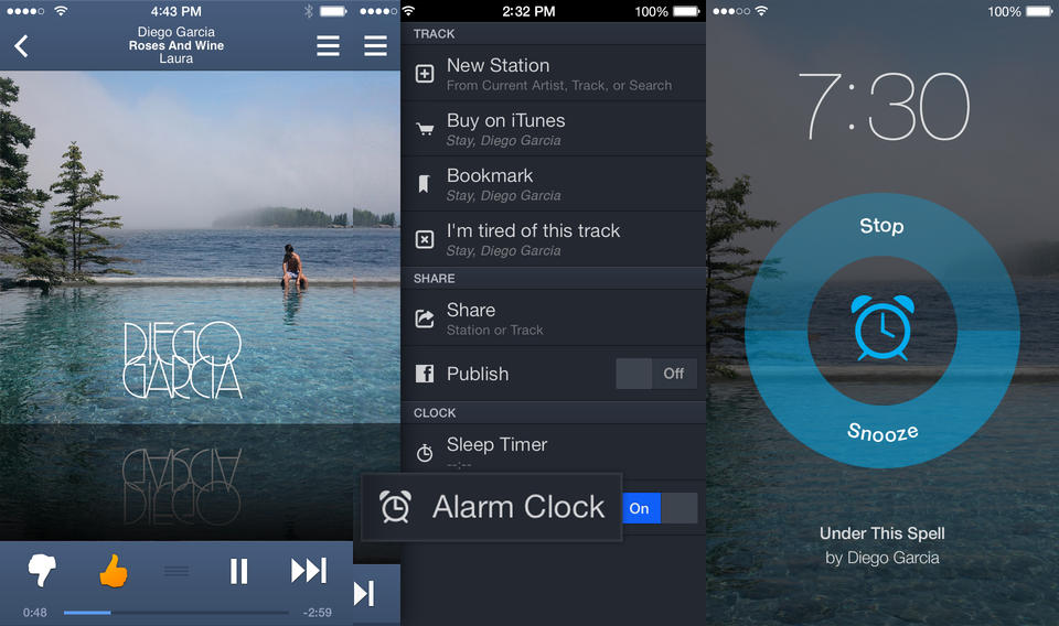Pandora for iOS gets an alarm clock for waking up to your favorite station and new design just for iOS 7