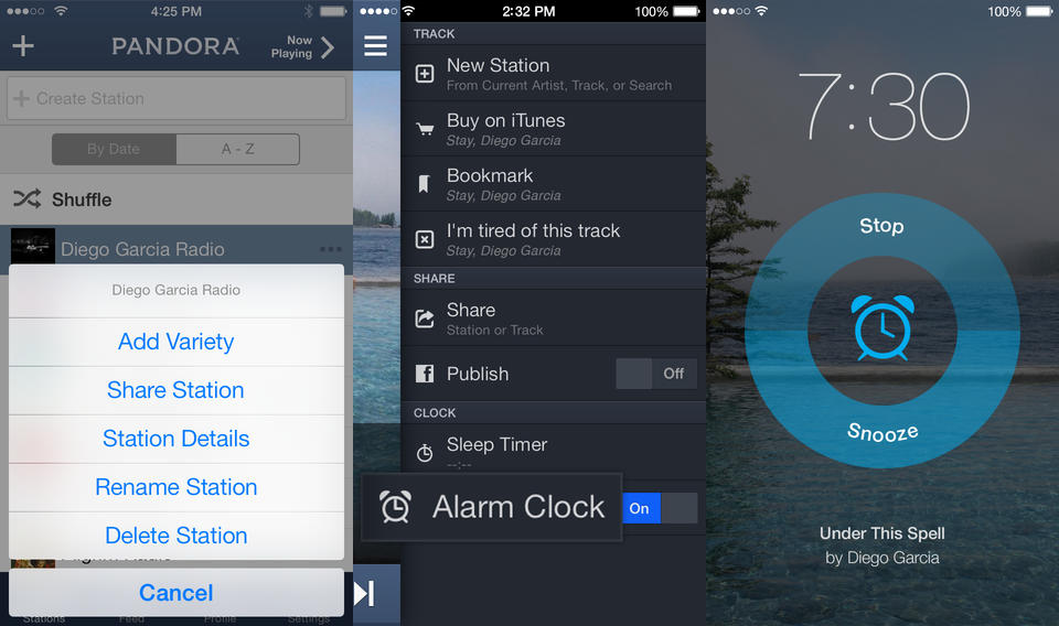 pandora ios Pandora for iOS gets an alarm clock for waking up to your favorite station and new design for iOS 7