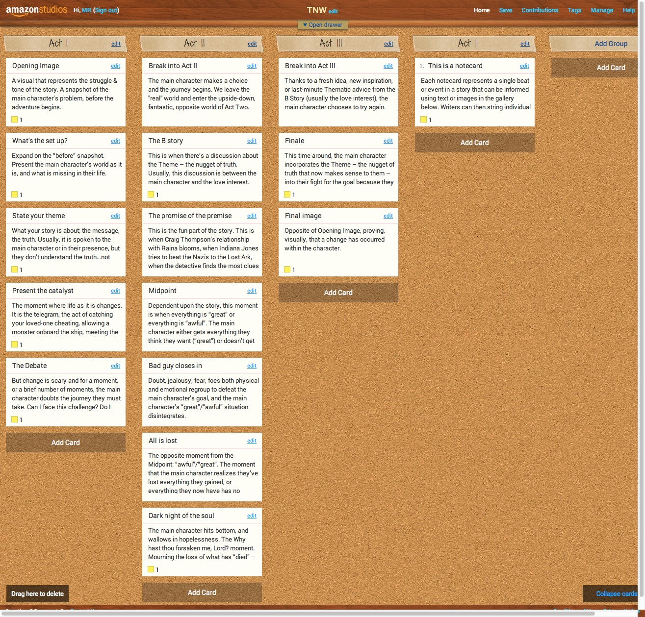 Amazon storybuilder gives writers a virtual corkboard for new scripts resource 7 gumiabroncs Images