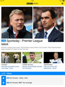 BBC Sport app is now optimized for iPads and larger screened Android tablets in the UK