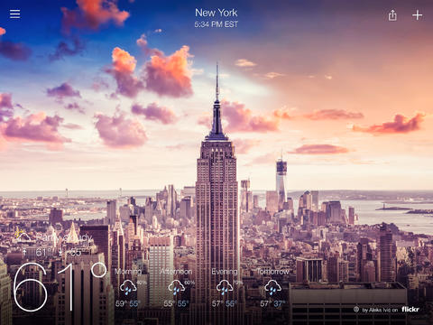 Yahoo Weather breezes onto iPad