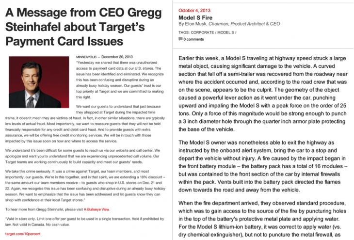 target letter credit card