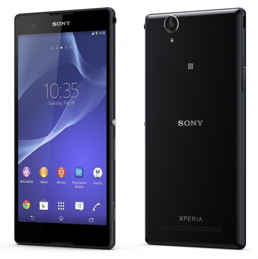 09 Xperia T2 Ultra Black Front Black 520x523 Sony unveils Xperia T2 Ultra phablet and Xperia E1 smartphone with a focus on entertainment