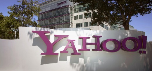 The entrance of  Yahoo head quarters in