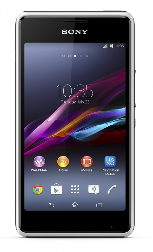 1 Xperia E1 White Front 520x852 Sony unveils Xperia T2 Ultra phablet and Xperia E1 smartphone with a focus on entertainment