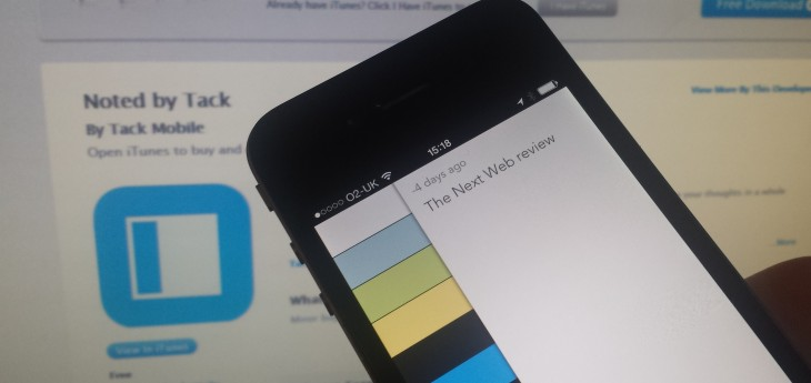 Noted: A beautifully simple gesture-based note-taking app for iPhone