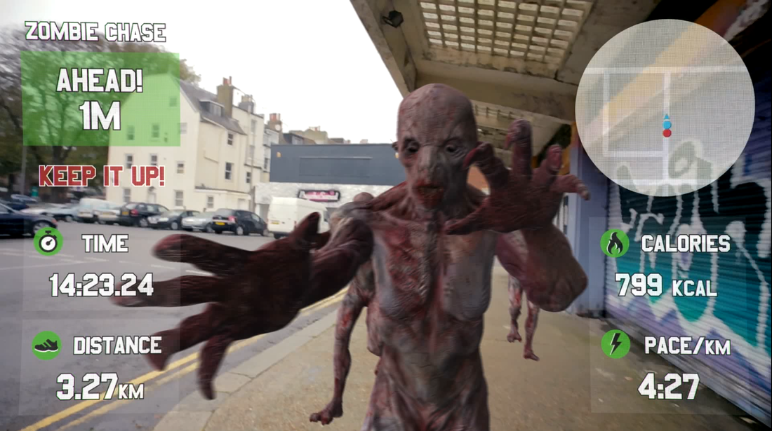Run from Zombies with the Race Yourself Google Glass App