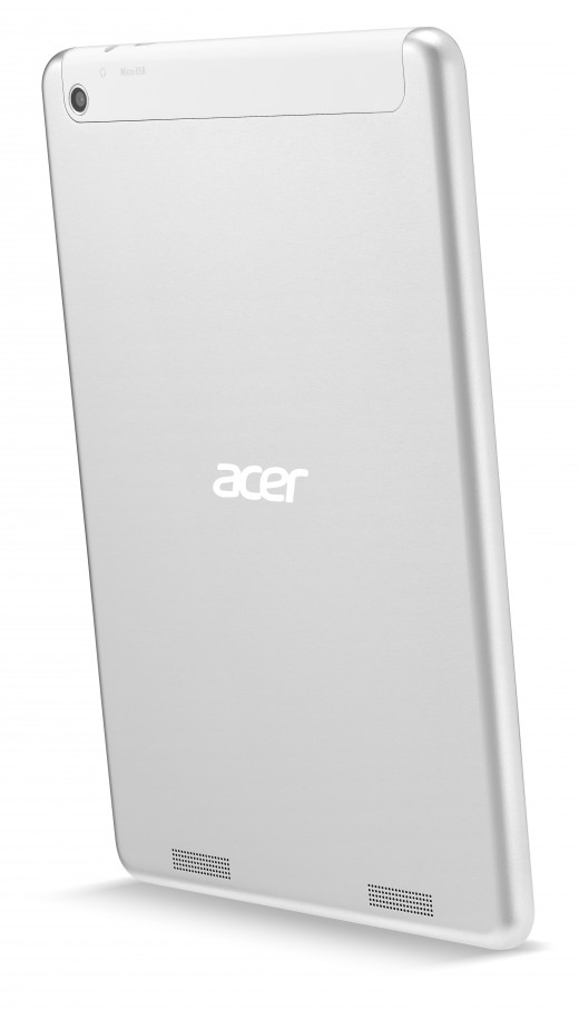 Acer Iconia A1 830 rear angle 520x915 Acer unveils two new sub $200 Android tablets, a $1099 desktop, and an updated C720 Chromebook