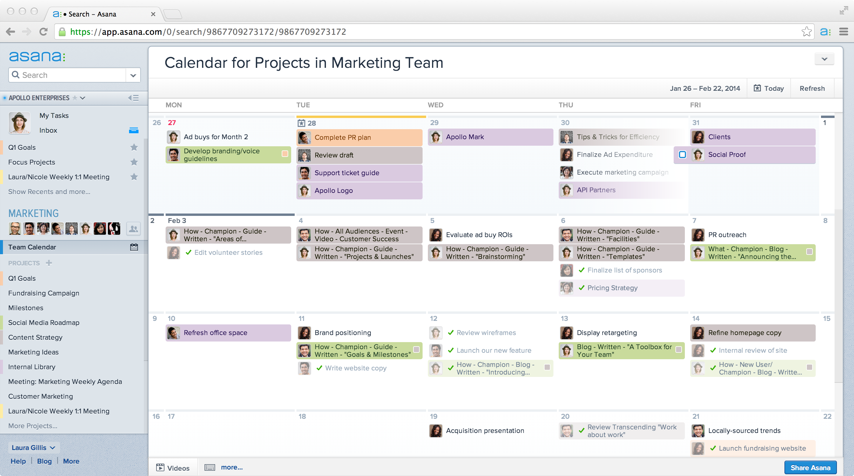Asana unveils calendars a new way to visualize project deadlines calendars in asana 1 team wide view nvjuhfo Image collections