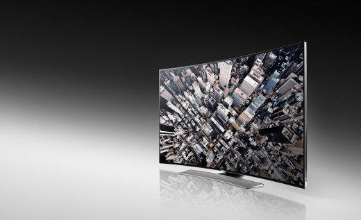 Curved UHDU9000 Front 520x317 Samsung unveils a curved ultra high definition TV, while LG announces a flexible curved TV