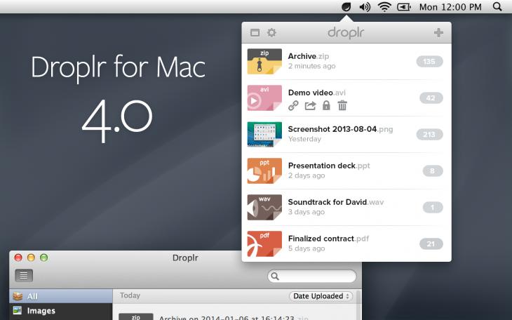 Droplr Mac 4 Preview (Retina)