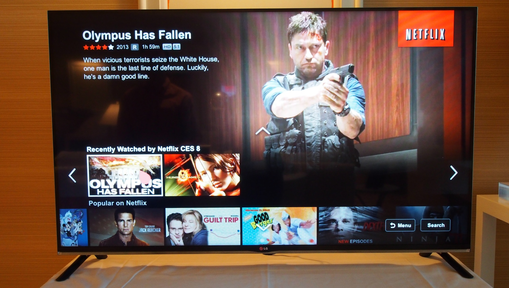 It uses more than twice the bandwidth of HD, but LG's 4K Netflix-enabled TV is pretty sweet