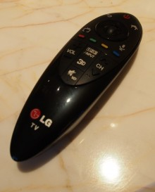 LG Ultra HD remote 220x273 It uses more than twice the bandwidth of HD, but LG's 4K Netflix enabled TV is pretty sweet