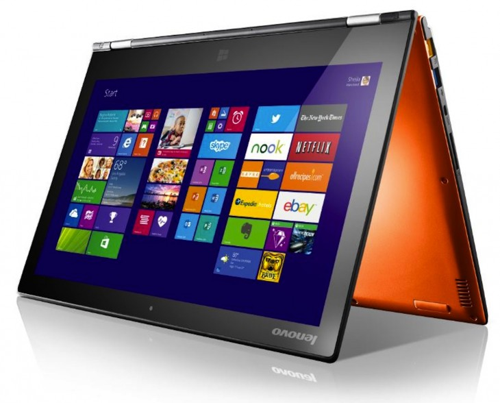 Lenovo Yoga 2 Pro Orange Tent 730x588 Lenovo unveils over 15 new devices, including convertible tablets and a carbon fiber ultrabook