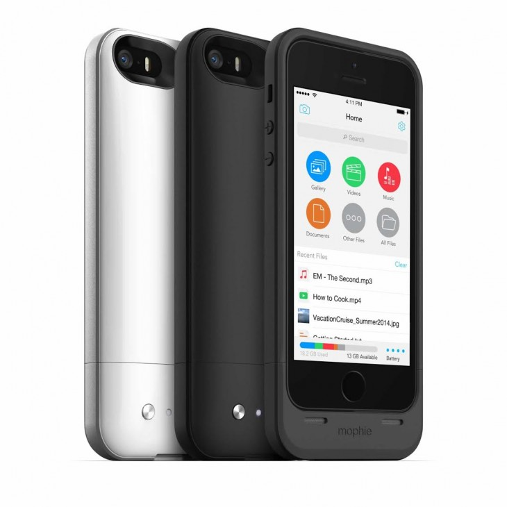 Mophie Space Pack promises to double your iPhone 5s battery life and adds up to 32GB extra storage