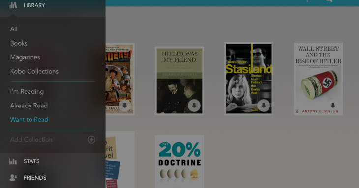 Kobo updates for iOS 7 with new navigation menu, redesigned library and more