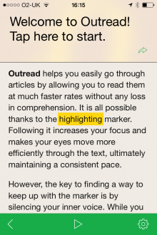 Photo 16 01 2014 16 15 55 220x330 Outread for iOS highlights text to help speed your way through your reading list